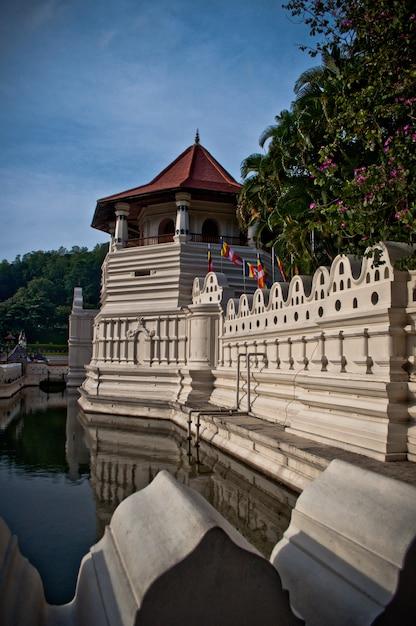 Tempel van de tand relikwie. sri lanka Premium Foto