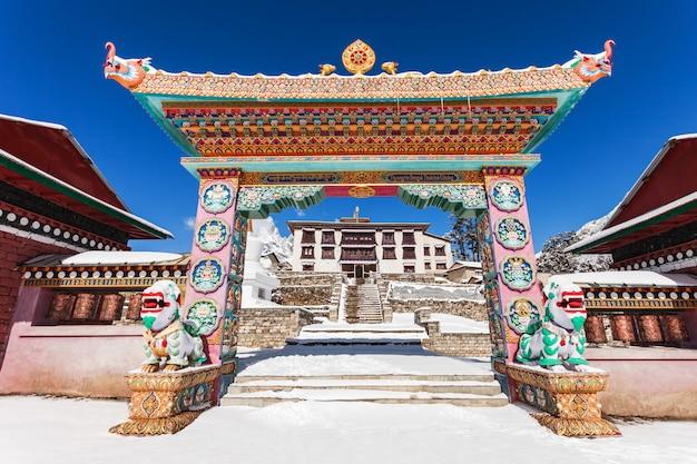 Tengboche-klooster, nepal Premium Foto