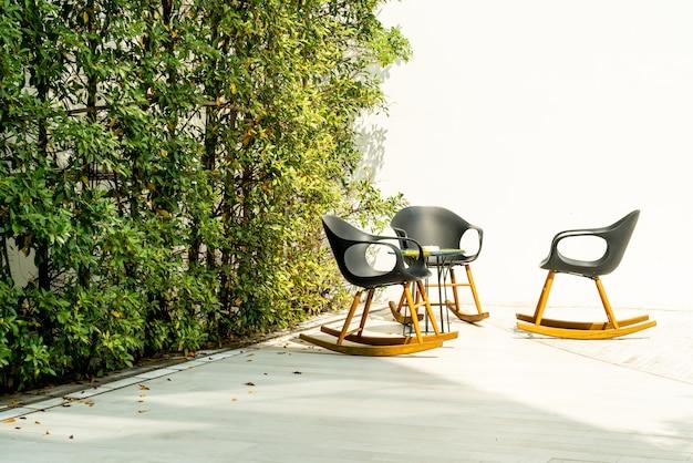 Terras en stoel Premium Foto
