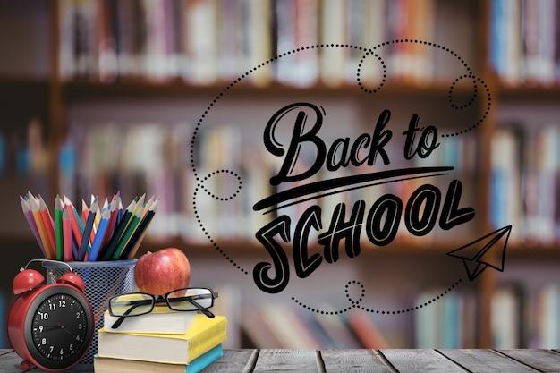 Terug naar school supplies Gratis Foto
