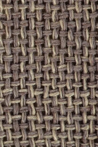 Textuur bruin canvas stof, zak textuur Premium Foto