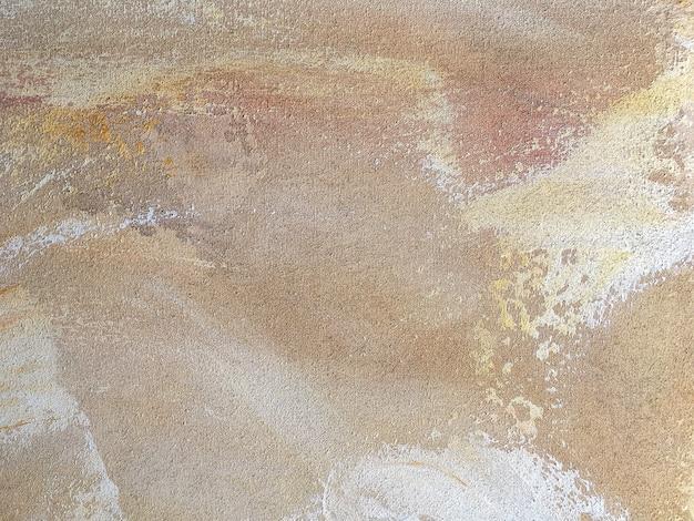 Textuur van abstracte kunst beige kleuren. Premium Foto