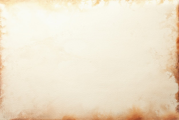 Textuur van oud beige document met koffievlek, verfrommelde achtergrond. vintage zandoppervlak. structuur van ambachtelijk karton. Premium Foto