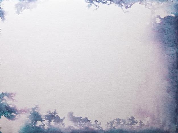 Textuur van oud witboek, verfrommelde achtergrond. vintage ivoor grunge oppervlak met paars en blauw frame. Premium Foto