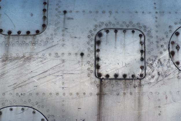 Textuurfuselage beschadigde vliegtuigen Premium Foto