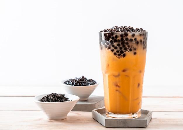 Thaise melkthee met bubbels Premium Foto