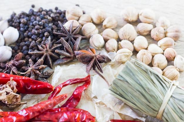 Thaise voedselingrediënten Premium Foto
