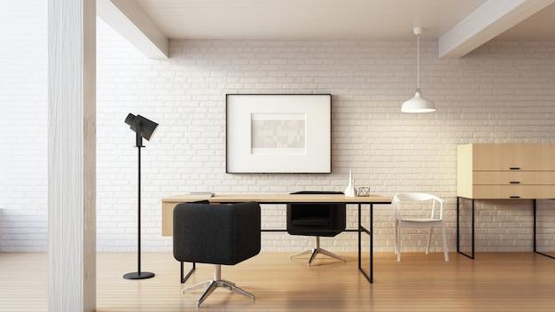 The loft & modern working - living home Premium Foto