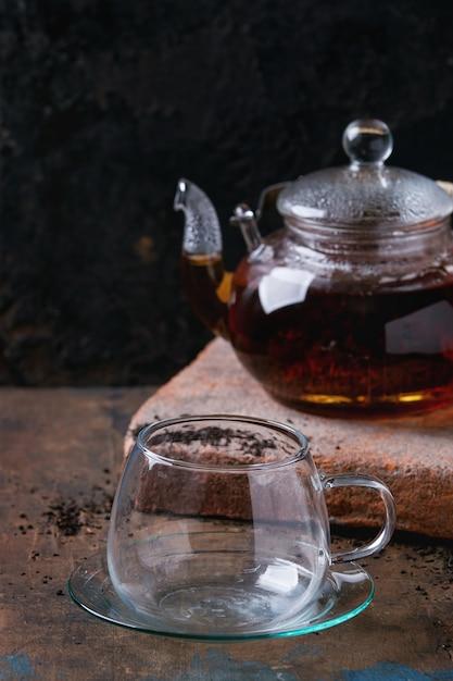 Theepot zwarte thee Premium Foto