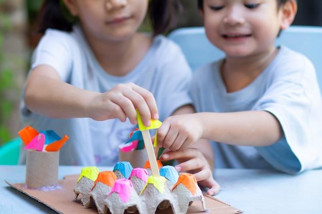 Thuisactiviteit voor kinderen Premium Foto