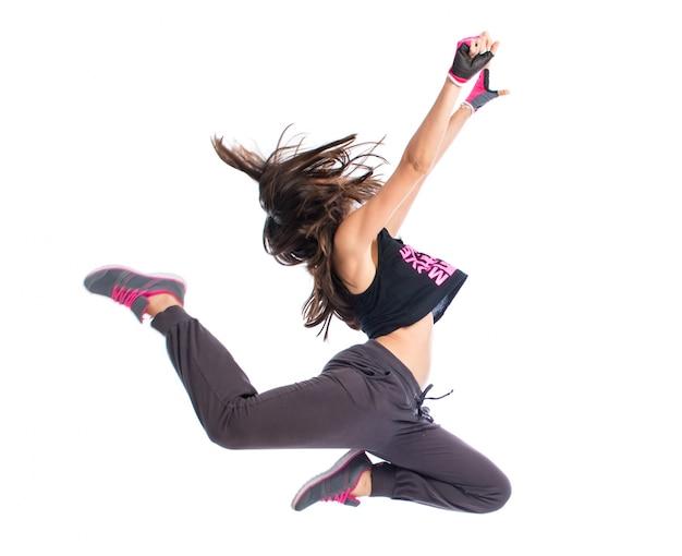 Tiener meisje dansen hip hop Premium Foto