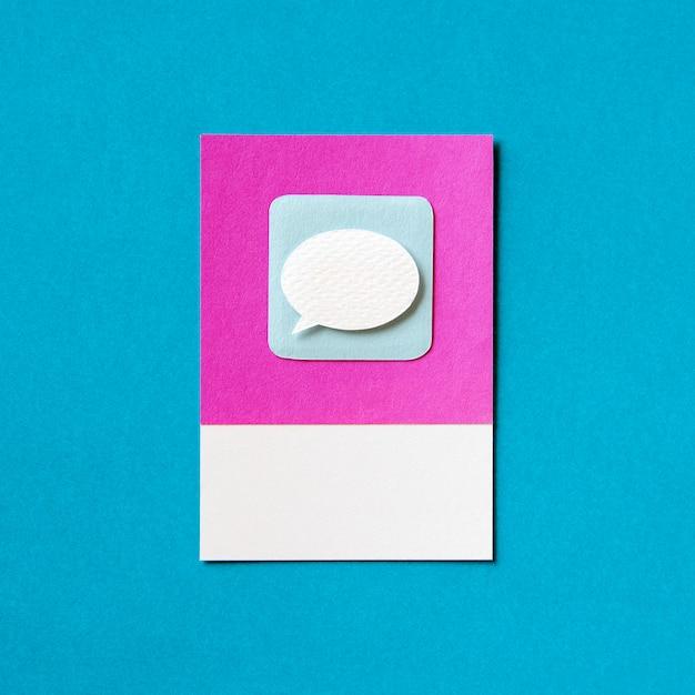 Toespraak bubble chat pictogram illustratie Gratis Foto