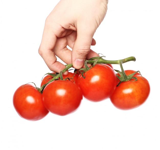 Tomaten over wit oppervlak Gratis Foto