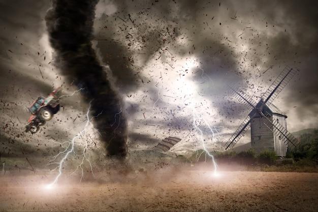 Tornado ramp concept Premium Foto