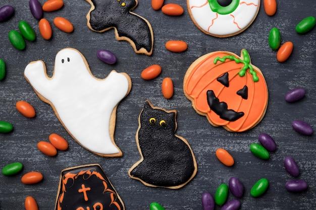 Traktaties voor halloween-feest Gratis Foto