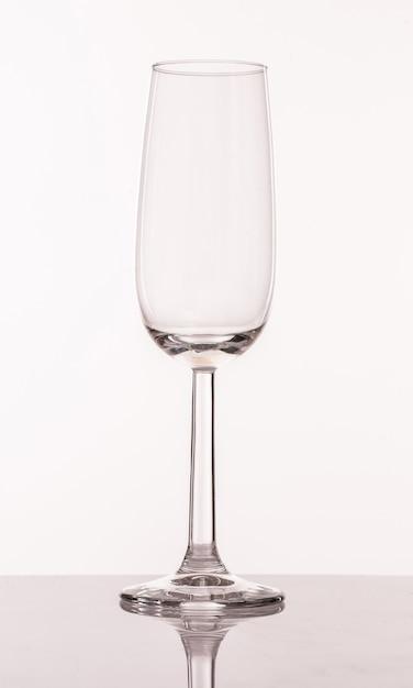 Transparant glas voor champagne Gratis Foto