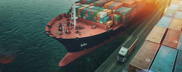 Transport en logistiek. Premium Foto