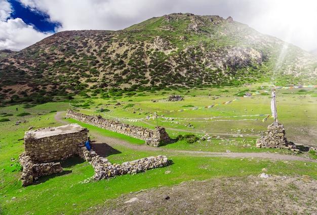 Trekking in nepal Premium Foto