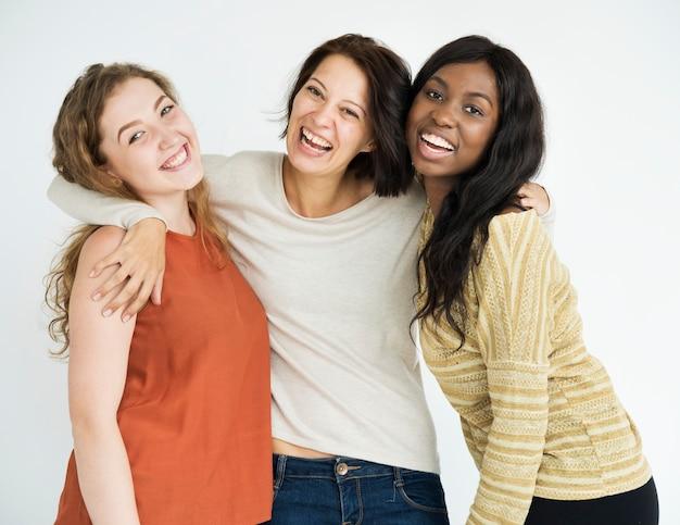 Een trio met haar beste vrienden