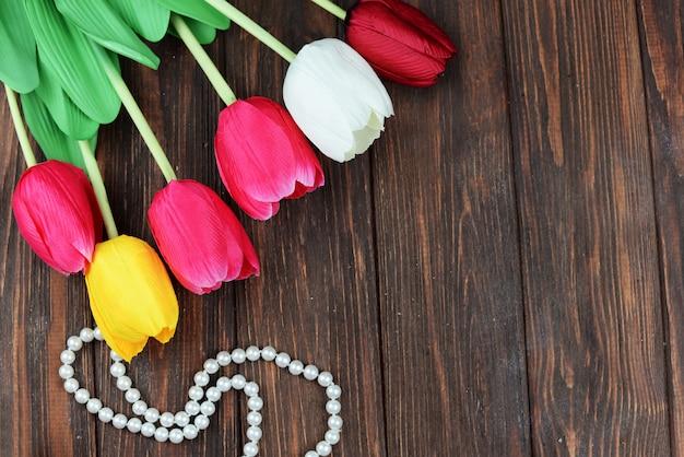 Tulpen bloemen voor valentijnsdag vakantie 8 maart moederdag Premium Foto