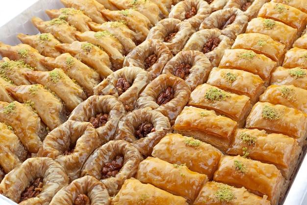 Turkse ramadan dessert baklava Premium Foto