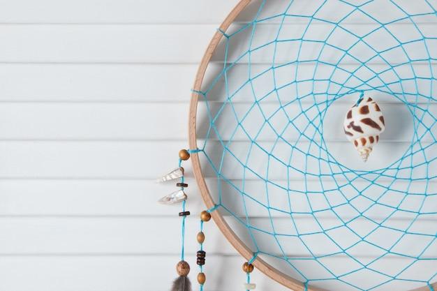 Turquoise dromenvanger Premium Foto