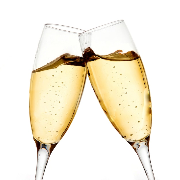 Twee champagneglazen Premium Foto