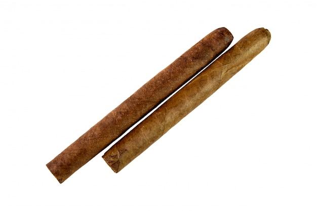 Twee cubaanse sigaren Premium Foto