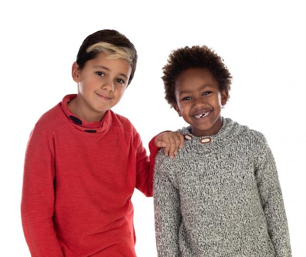 Twee gelukkige broers Premium Foto