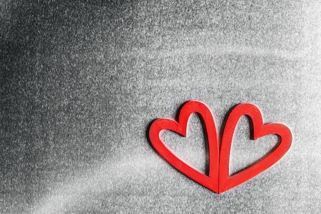Twee houten harten Premium Foto