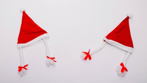 Twee kerstmutsen Gratis Foto
