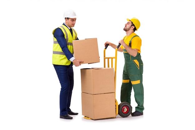 Twee werknemers geïsoleerd Premium Foto