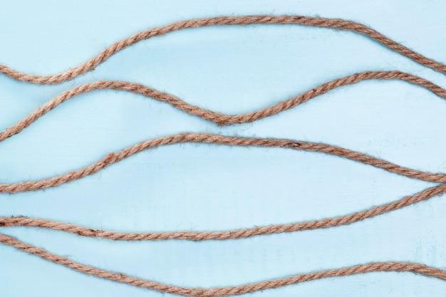 Twine sterke beige touw horizontale lijnen Gratis Foto