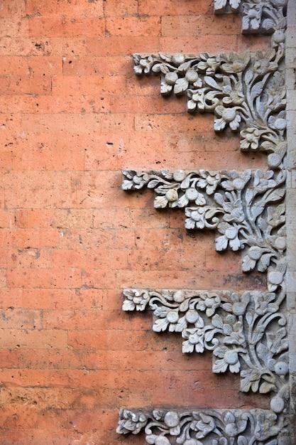 Ubud royal palace in bali, indonesië Premium Foto