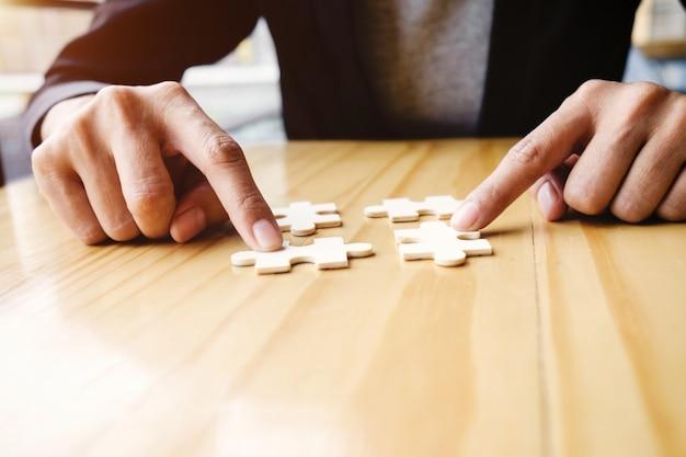 Uitdaging idee spel houten een bedrijf Gratis Foto