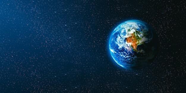 Uitzicht op de aarde vanaf de maan. elementen van deze afbeelding geleverd door nasa Premium Foto