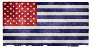 Usa grunge vlag omgekeerd grijs Gratis Foto