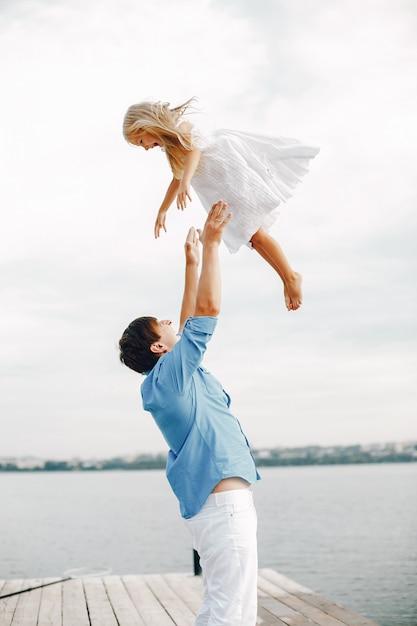 Vader met dochtertje Gratis Foto