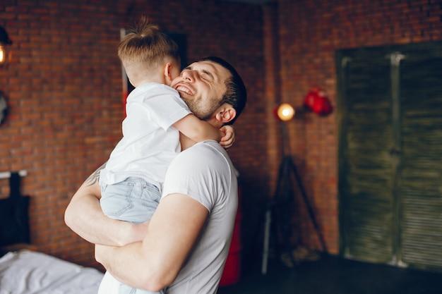 Vader met zoontje Gratis Foto