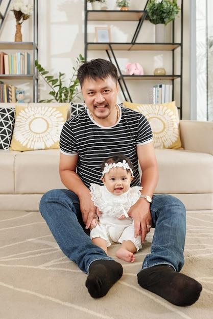 Vader tijd doorbrengen met dochter Premium Foto