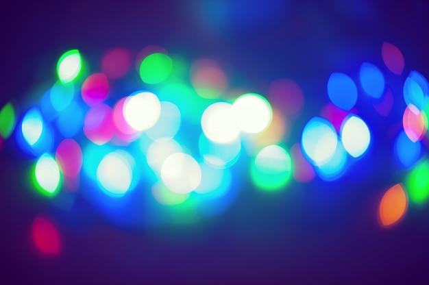 Vakantie bokeh kleurrijke helder als achtergrond Premium Foto
