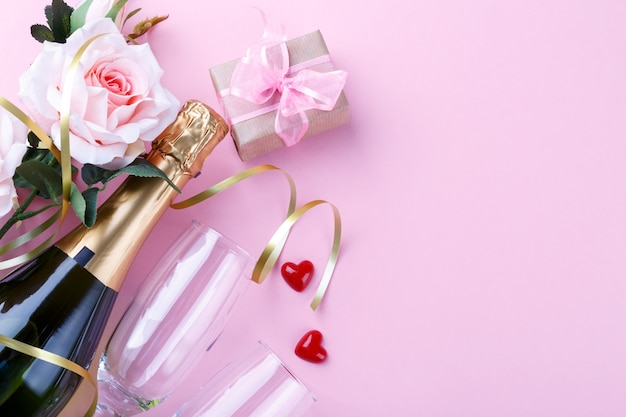 Valentijnsdag achtergrond Premium Foto