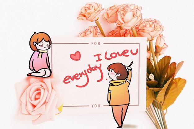 Valentijnsdag: creatieve fotografie gemengd Premium Foto