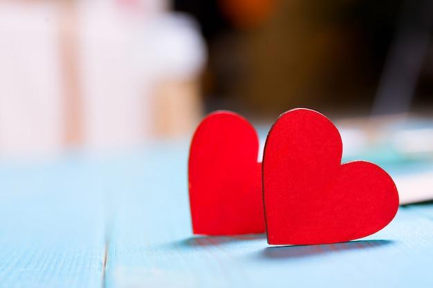 Valentijnsdag geschenk kaart concept Premium Foto