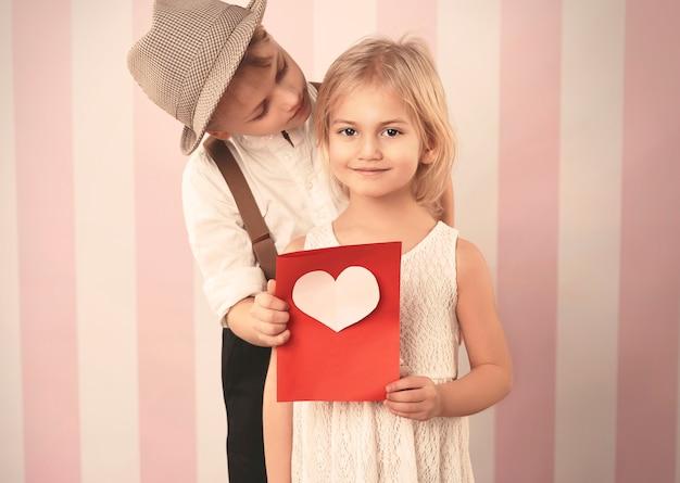 Valentijnsdag kaart van geliefde vriend Gratis Foto