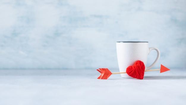 Valentijnsdag pastel minimale creatieve achtergrond Premium Foto