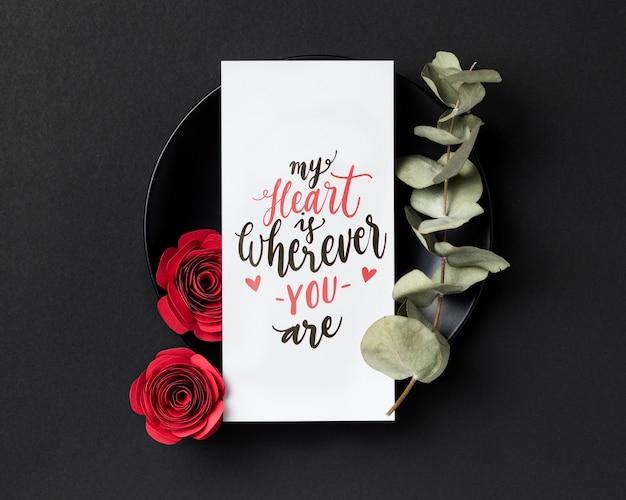 Valentijnsdag samenstelling met tekst Gratis Foto