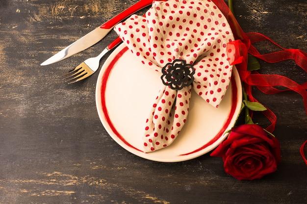 Valentijnsdag scène Premium Foto