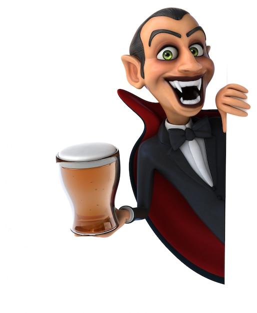 Vampire karakter geïsoleerd Premium Foto