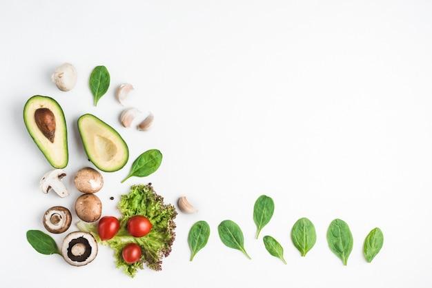 Van boven gesorteerd groenten Premium Foto